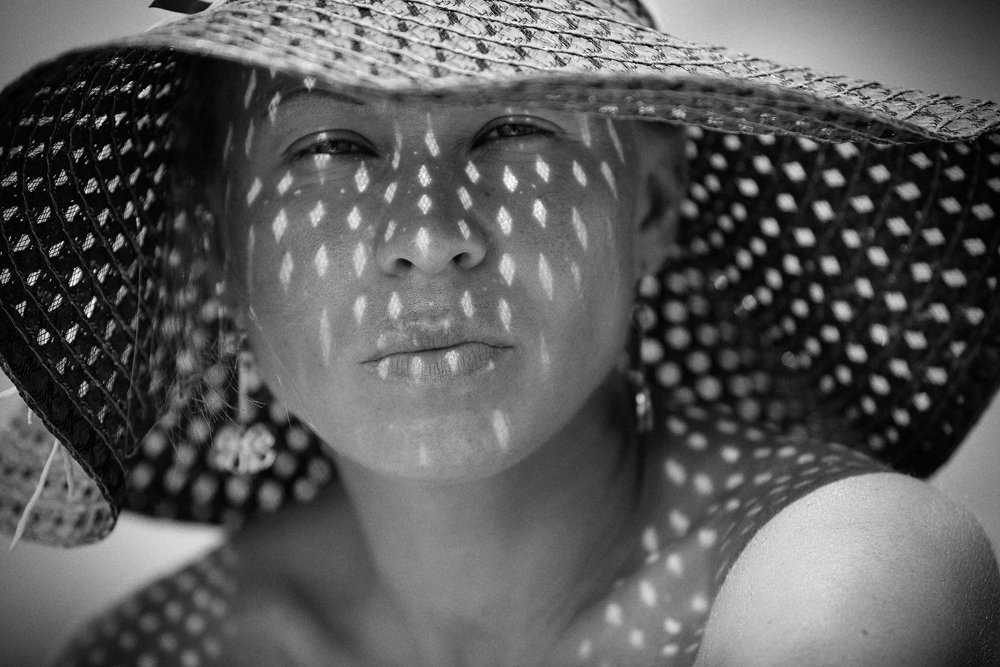 девушка, шляпка, свет, тень, Григорий Иващенко