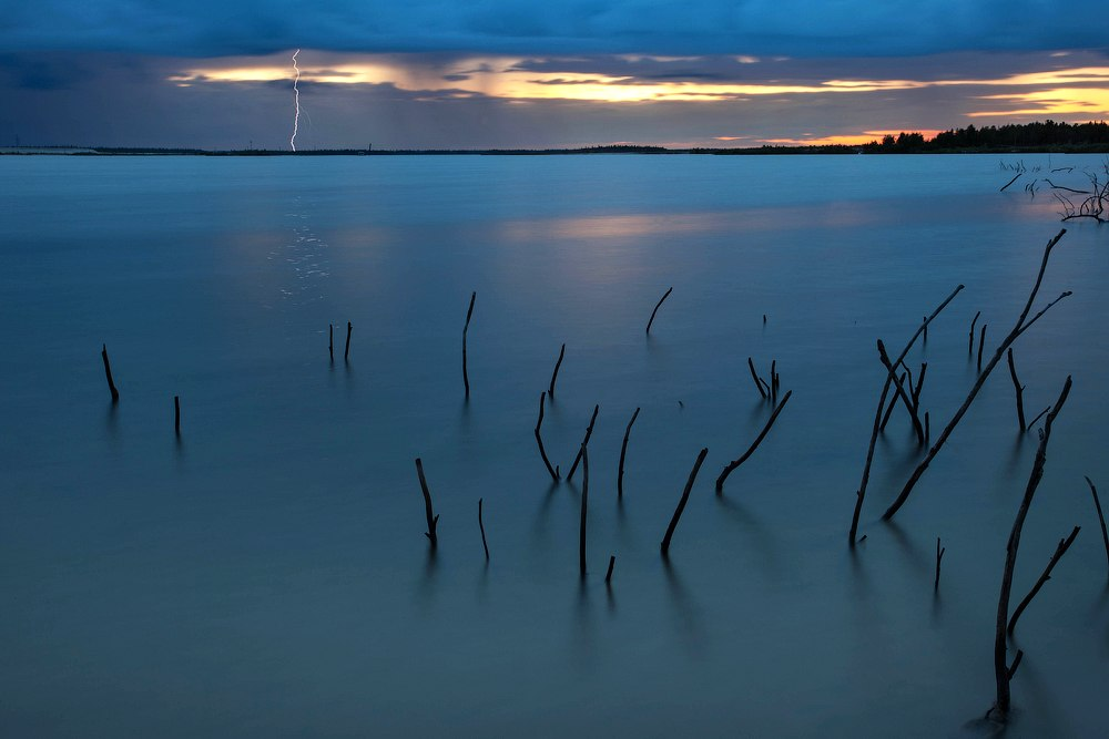 russia, flash, lake, sunset, landscape, north, россия, молния, пейзаж, север, озеро, Шаленкин Роман
