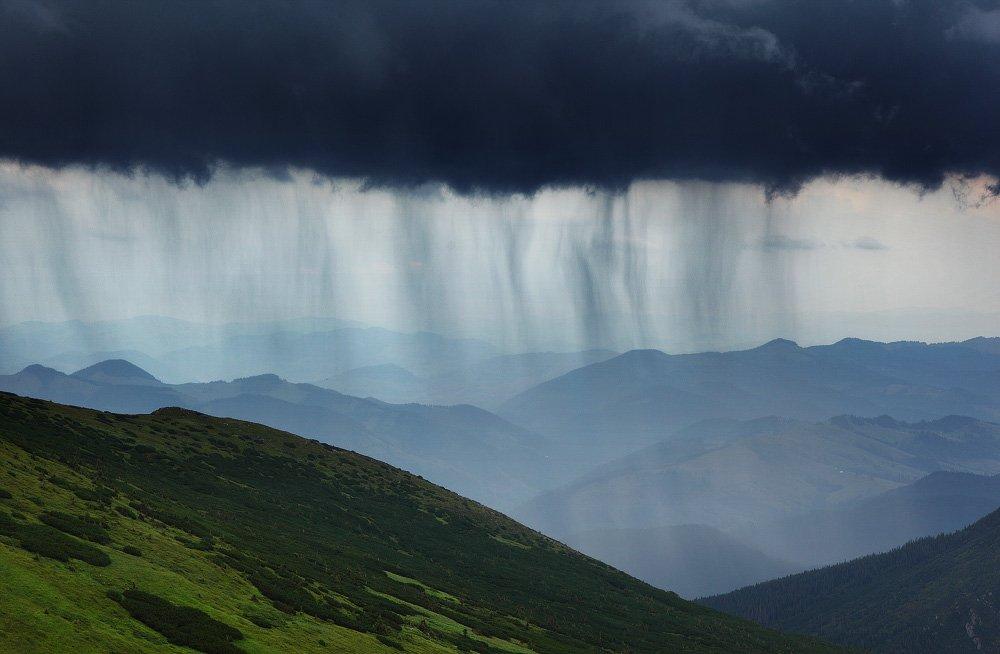 карпаты, горы, , украина, черногора, дождь, гроза, Leonid Tit