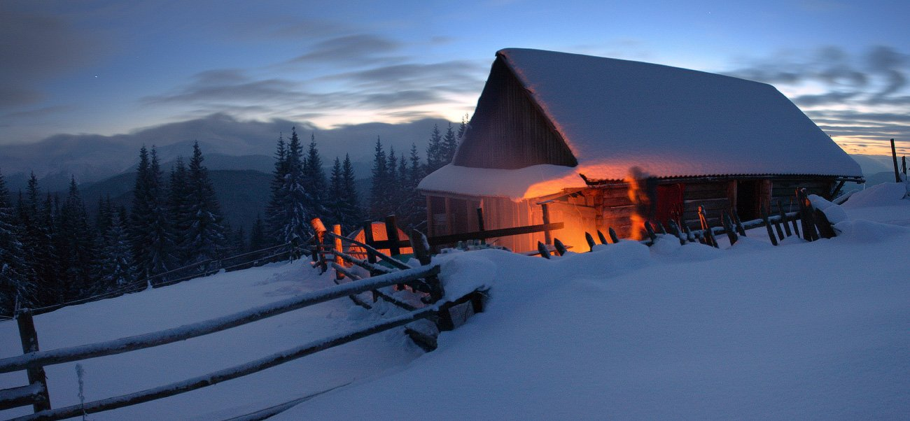 карпаты, горы, снег, зима, Leonid Tit
