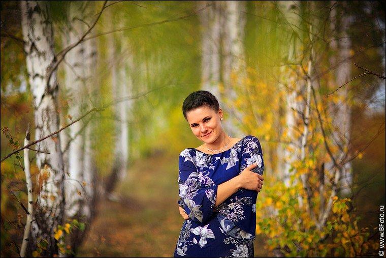 девушка, осень, портрет, фотограф Алексей Строганов www.BFoto.ru