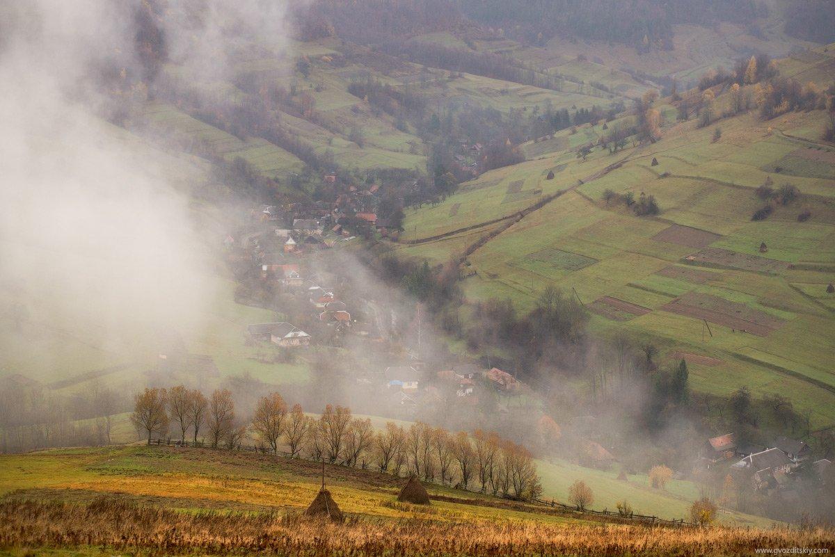 карпаты, непогода, горы, склоны, облака, туман, Гвоздицкий Алексей