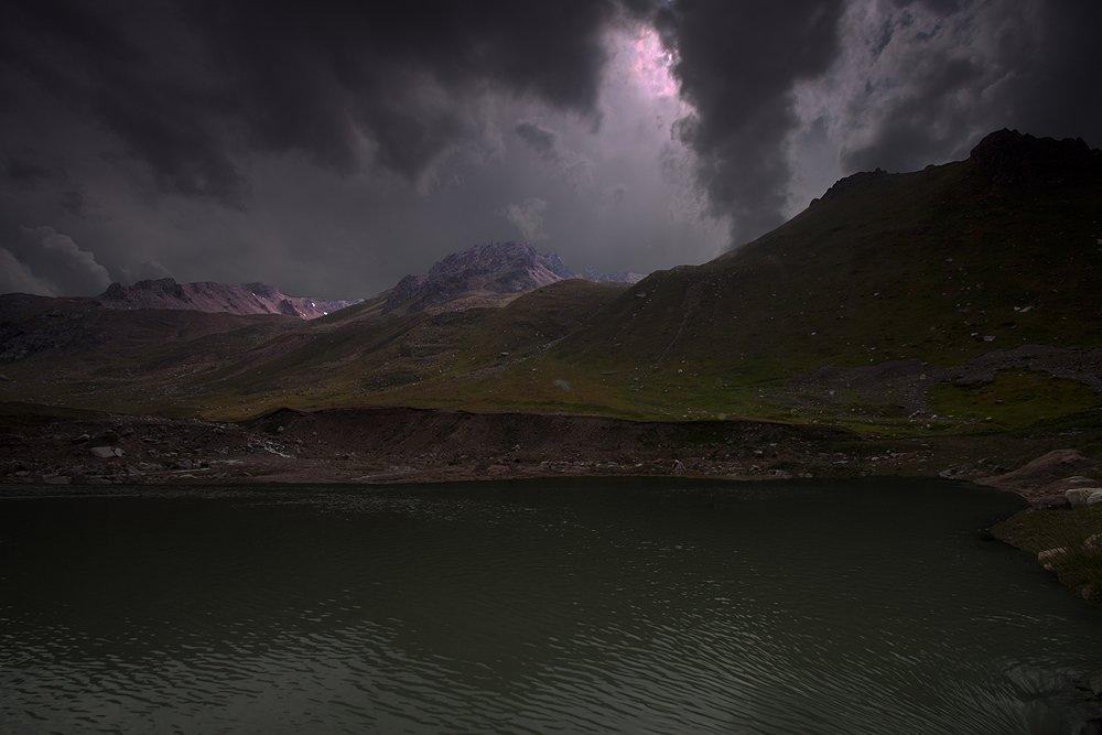 тучи, горы, озеро, Silfida
