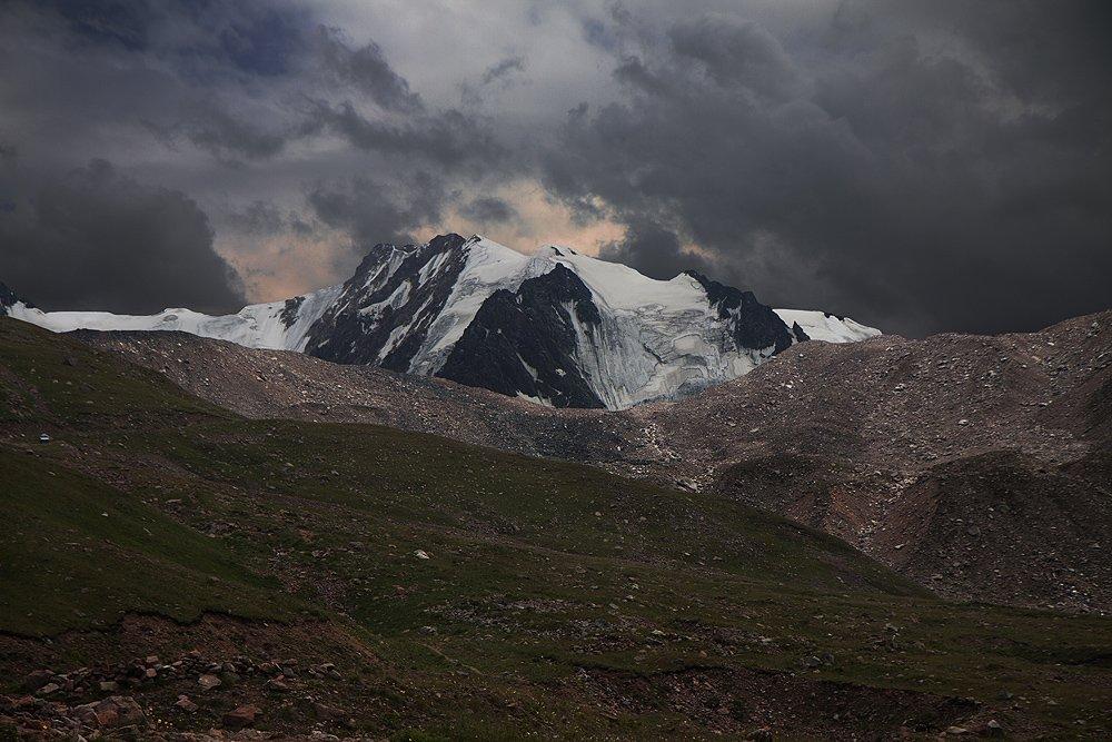 горы, ледник, тучи, Silfida