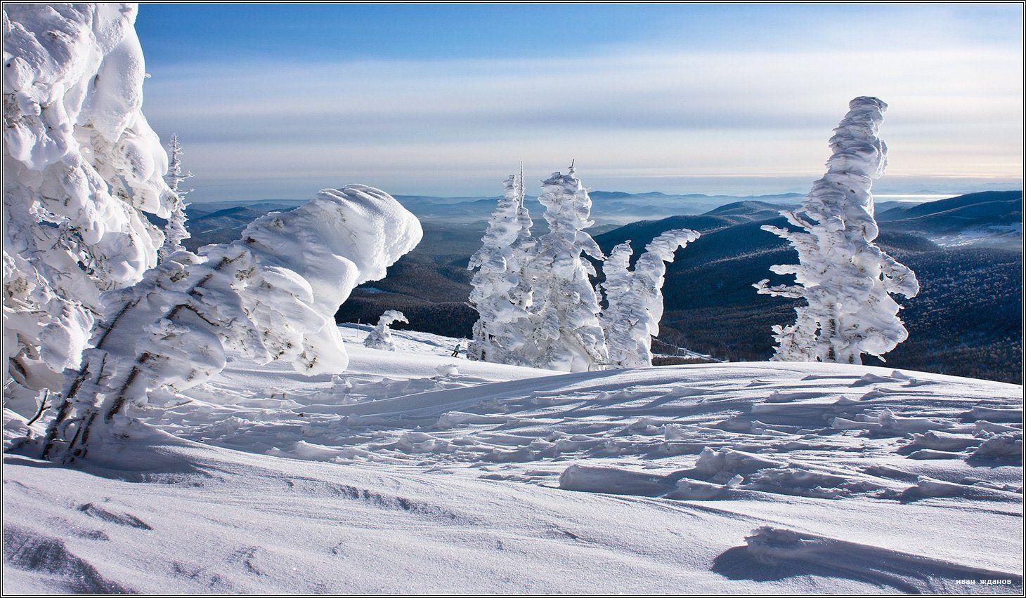 горы, шерегеш, горная шория, зима, сибирь, фрирайд, Иван Жданов
