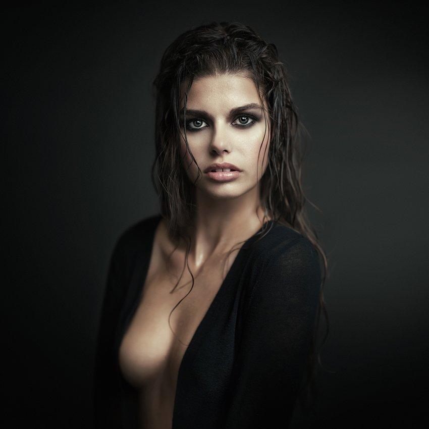 portrait, woman, studio, model, beauty, Ludek Ciganek