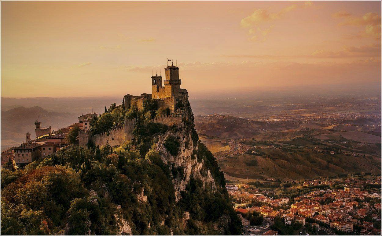 foto liubos, вечер, горы, замок, сан марино, Любовь Селиванова