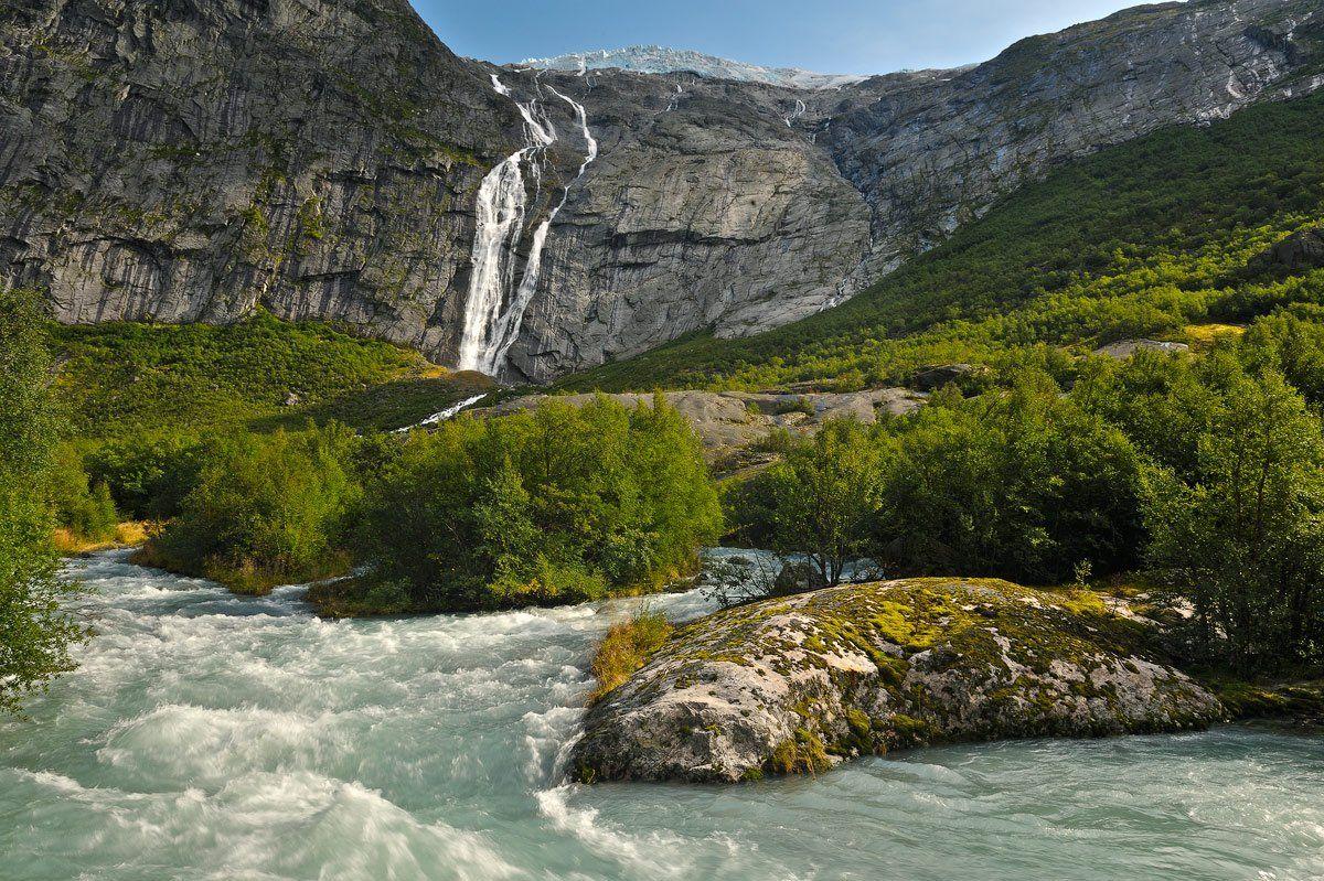 норвегия, горы, река, природа, водопад, пейзаж, Александр Константинов