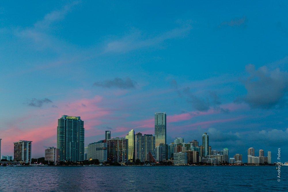 America, Downtown, Miami, Usa, Америка, Вечер, Вода, Город, Майами, Сша, Andrey Y. Polees