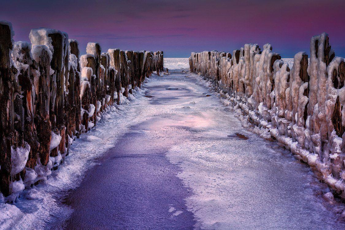 пейзаж, море, зима, латвия, закат, lapmezciems, Arturs Barzdis