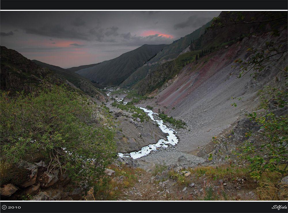 Дельта реки Иссык.