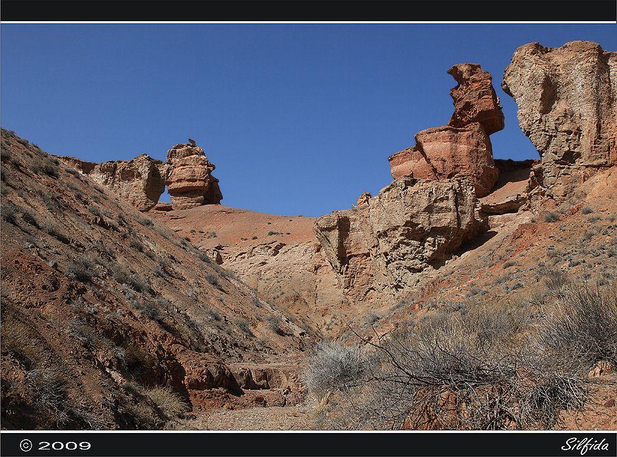 Особенностью каньона является то, что он виден только тогда, когда оказываешься рядом с ним. Дорога вьется среди пустынных предгорий и внезапно вылетает на самый край каньона. Под ногами открывается пропасть. Можно часами созерцать красоты каньона, любоваться невероятными башнями, шпилями, находить в причудливых скалах фигуры, похожие на различных зверей.