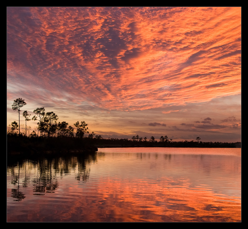 Sunset over Pine Lake, Florida