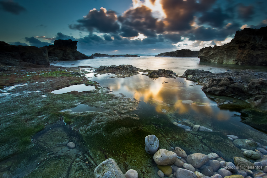 """Sunset reflexes"", photographed at Sintra Cascais natural park; Visit me at (Посетите меня на)  http://www.pedrocarmonasantos.com/"