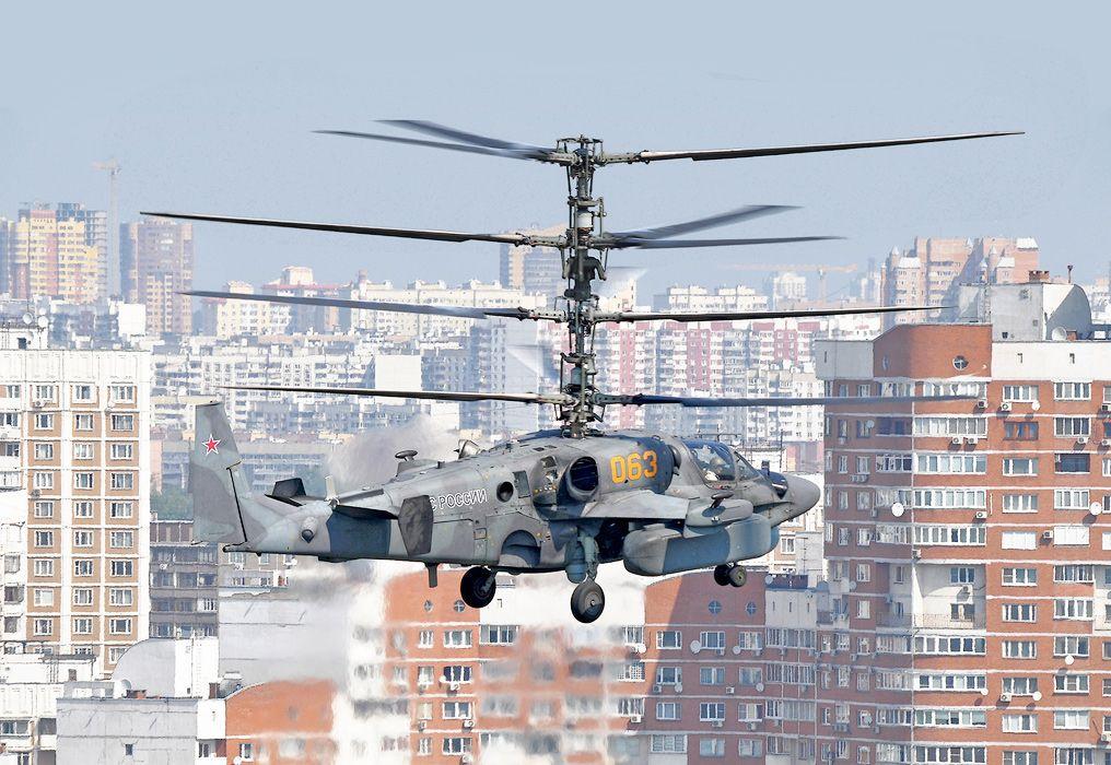"""Новый ударно-транспортный вертолет повышенной грузоподъемности Ка-54 """"хенелора"""""""
