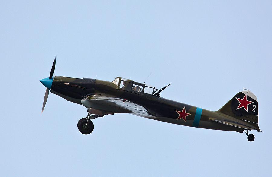 """Из-за характерного профиля, Ил-2 прозвали """"горбатый"""" К сожалению что этот единственный летающий экземпляр штурмовика изначально восстанавили для коллекционера из США."""