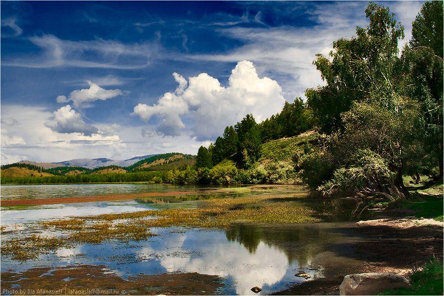 03. Озеро Маркаколь. Прозрачная вода • Скалы • Тайга • Луга • Топи • Рыба •