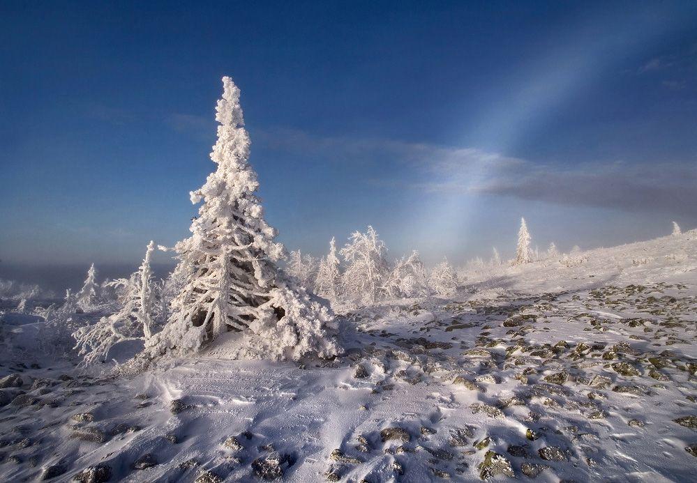 В белоснежных горах - белые радуги