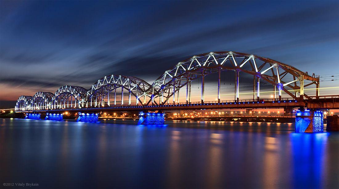Железнодорожный мост. г. Рига.