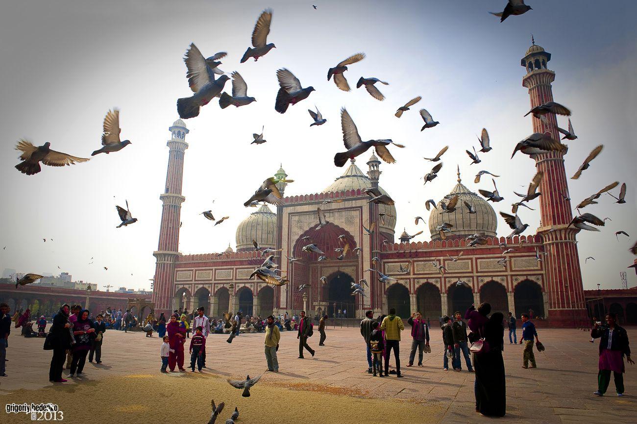 Джамма Масджит, делийская соборная мечеть. Построена Шах Джаханом 1656-м году.