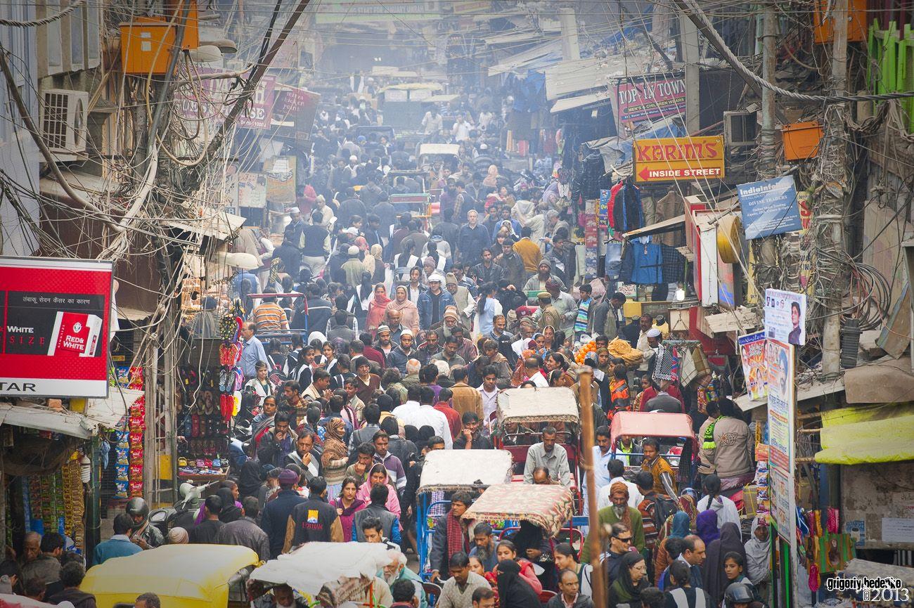Плотность населения в Старом Дели считается одной из самых высоких в мире.