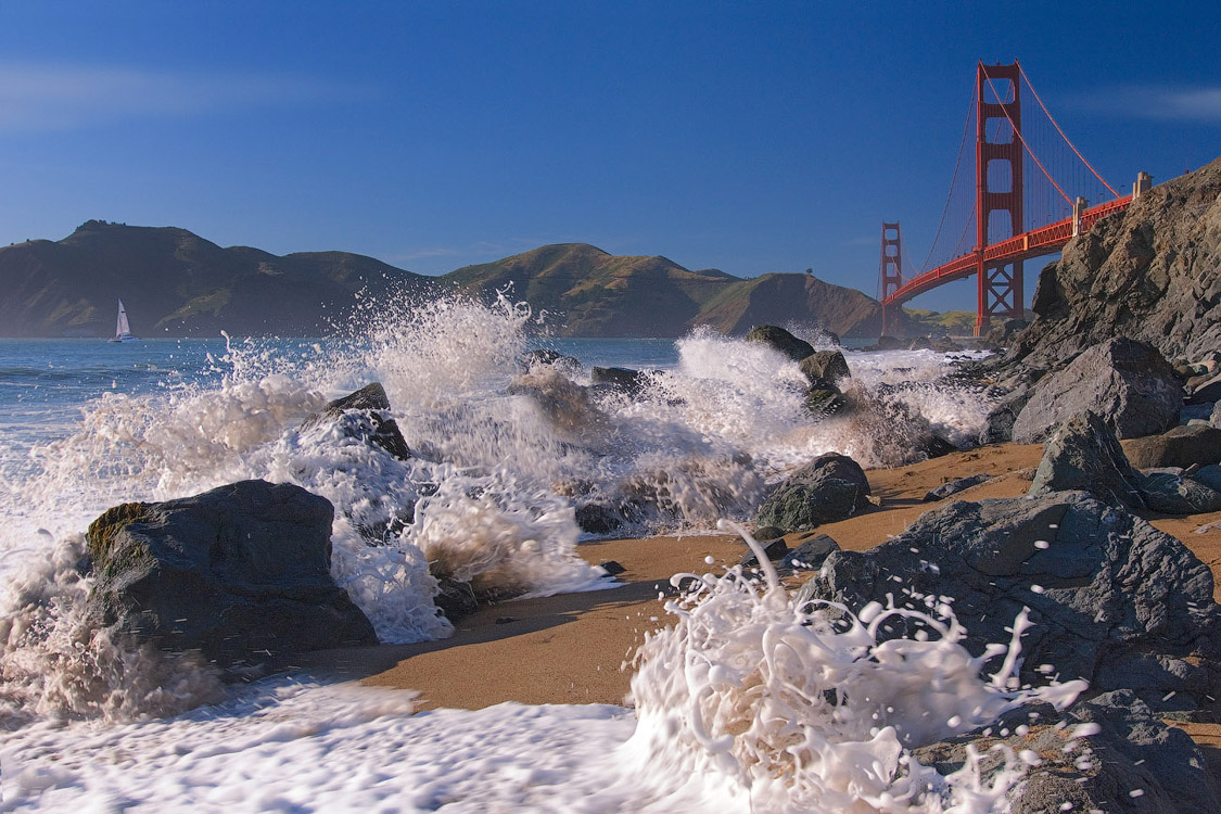 Голден Гейт и Немного Пены | Baker Beach, Golden Gate Bridge, San Francisco, California, USA