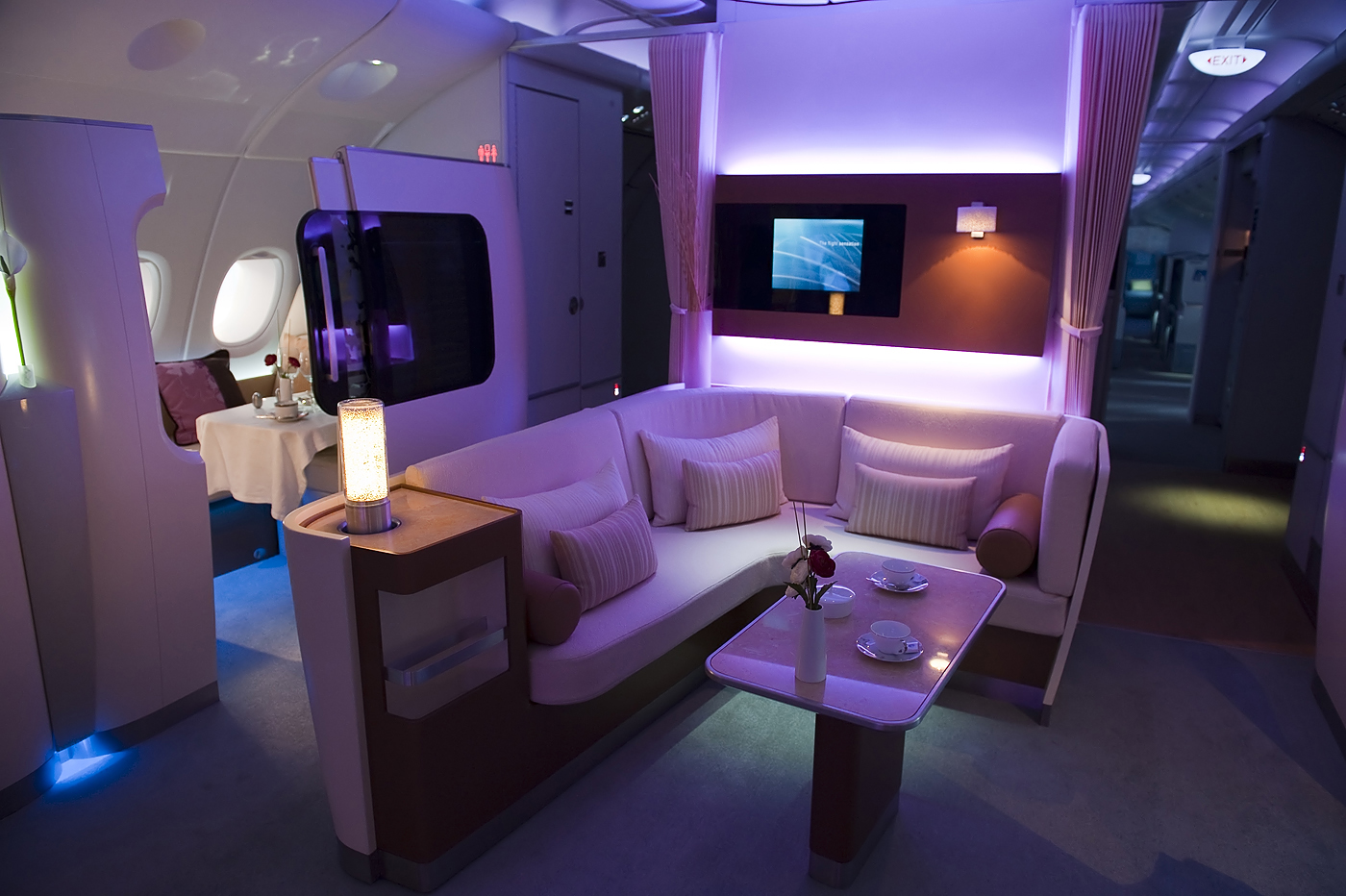 First Class Cabin On The Airbus A 380 Photograph By