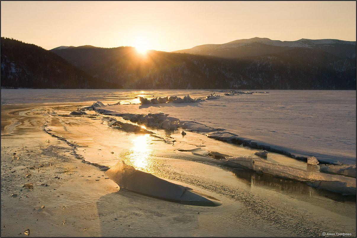 Золотой восход на Золотом озере
