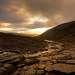 Прощальные лучи солнца из-за Индивичвумчорра, и дальше будут тучи, холод и ночь