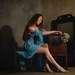 Леди в голубом. Интровертный портрет.