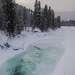 Местами видно кристально-чистую воду...