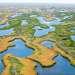 В нижней дельте река делится  множество рукавов, которые в свою очередь, образуют многочисленные озера.