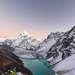 Ama Dablam (6,812 m.) and Chola Tsho Lake, Himalaya, Nepal