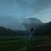 Нам повезло с погодой: в день нашего приезда шел сильный дождь, а значит вечером над озером появились обильные облака тумана.