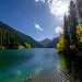 Озеро Нижний Кольсай (1818  метров над уровнем моря).