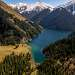 Озеро Средний Кольсай (2252 метров над уровнем моря).