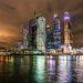 Ночная Москва - сити. Все ее снимают, здесь снимал кучу кадров фиксой с уровня реки и сделал панораму....