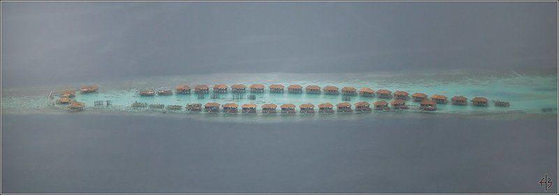 мальдивы остров домики бунгала Мальдивыphoto preview