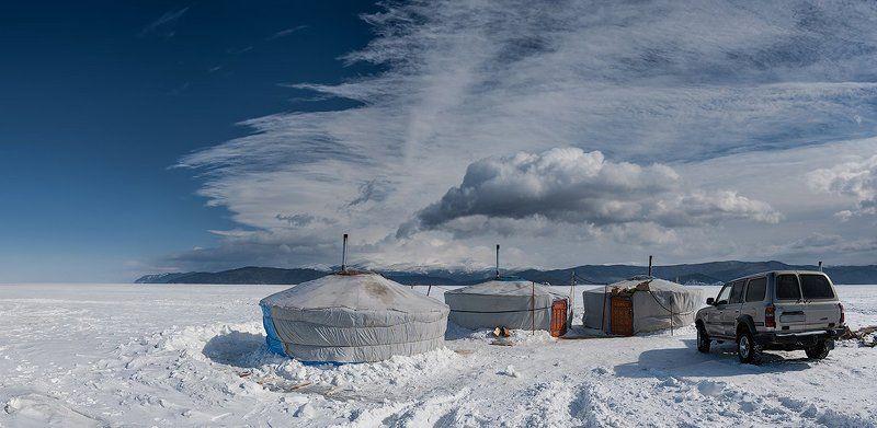 бурятия, байкал, зима Зимняя рыбалка на Байкалеphoto preview