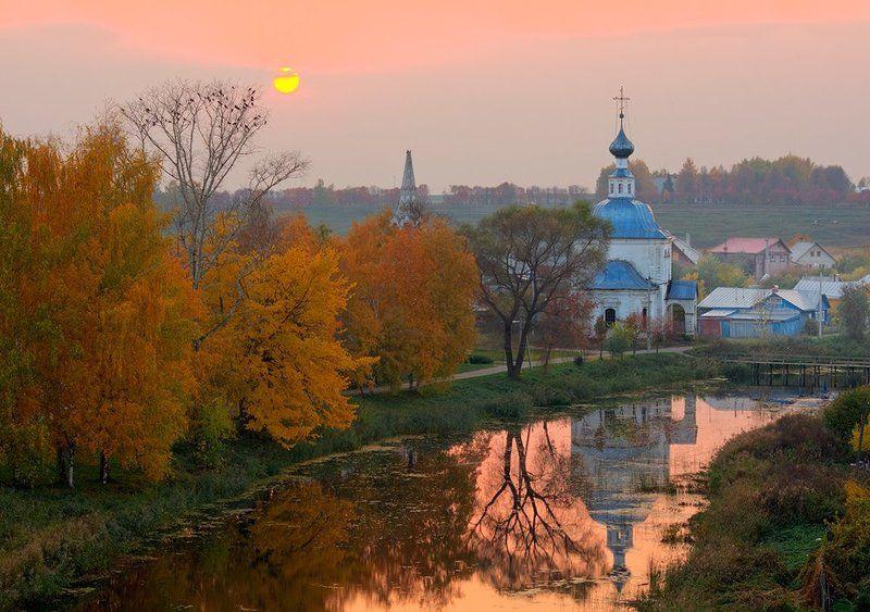 Суздаль пейзаж закат Осень в Суздалеphoto preview