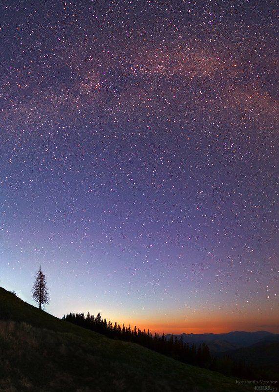 Звездное небо Карпатphoto preview