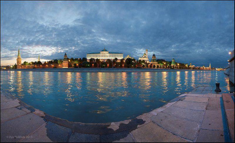 вечерняя москва, кремль, москва На разлитых облаках...photo preview
