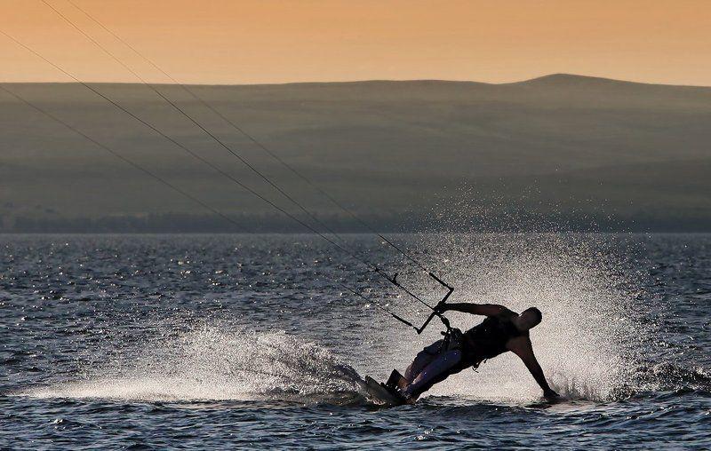 Kite24, Озеро Белё, Хакасия Вечерний силуэтphoto preview