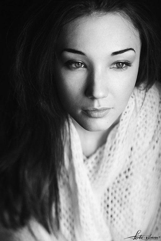 Foto-vdvoem, Портрет, Портрет девушки, Фото вдвоем, Фото-вдвоем, Черно-белая фотография, Черно-белое фото Юлияphoto preview