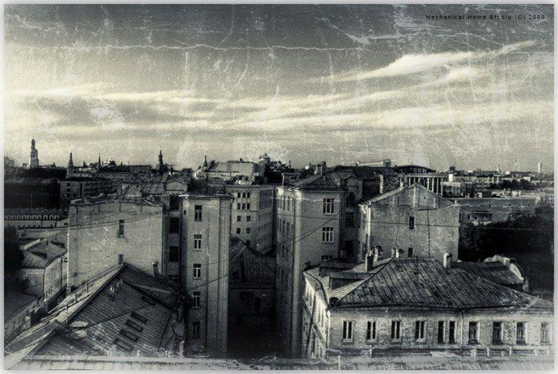 город, крыши, прогулки холодный городphoto preview