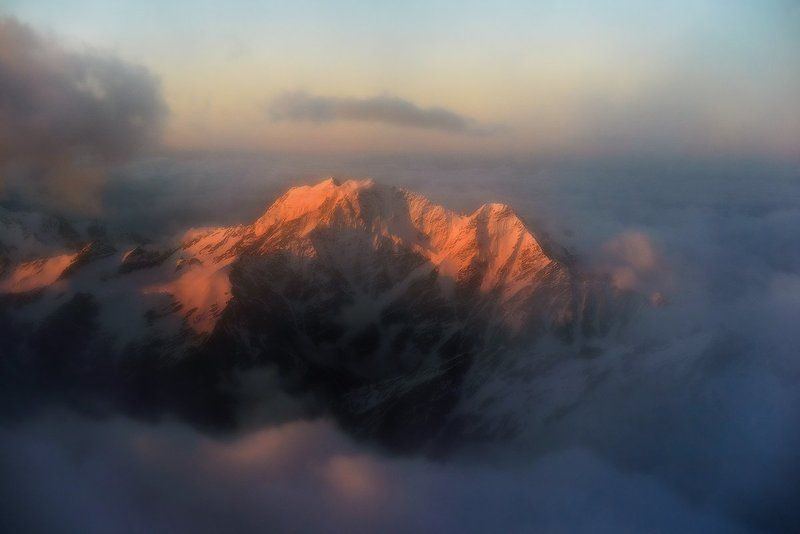 Горы, Кавказ, Рассвет, Эльбрус Сложный маршрутphoto preview