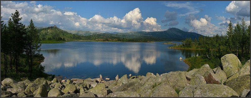 Панорама горного озераphoto preview