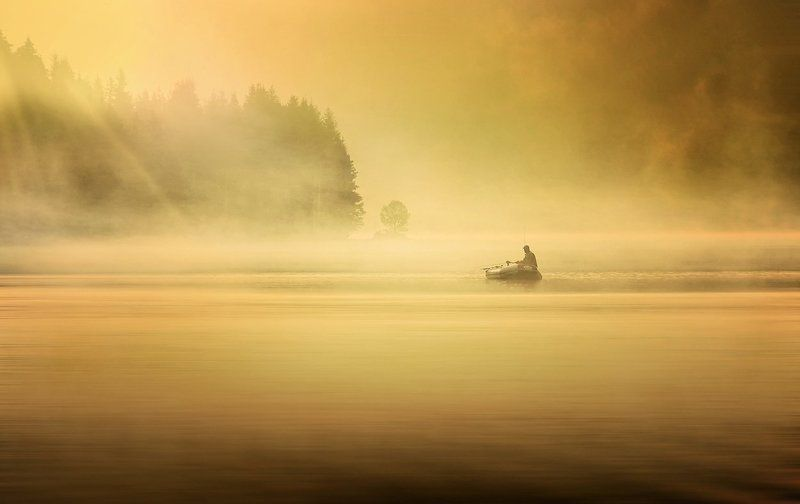 Beglika, Bulgaria, Fishing, Mist, Morning Beglika Morning Mistphoto preview
