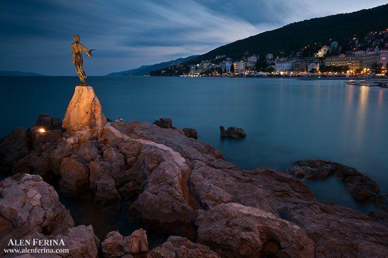 Aббатстве в синий час, Кварнер, Хорватияphoto preview