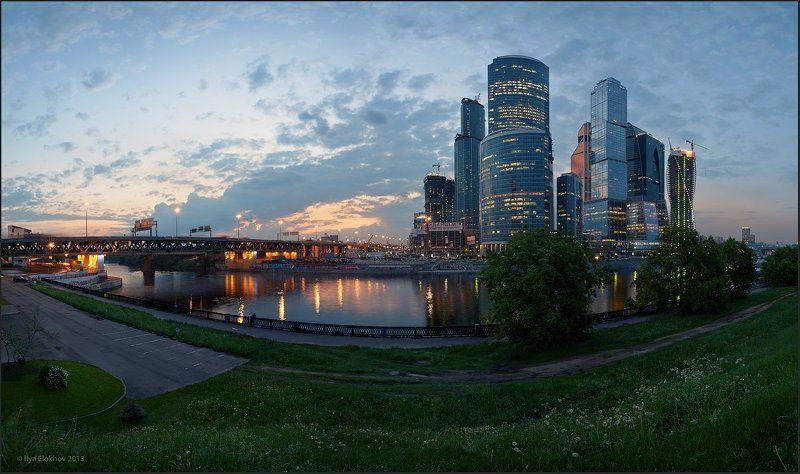 Архитектура, Вечерняя москва, Москва, Москва-сити Московский вечер.photo preview